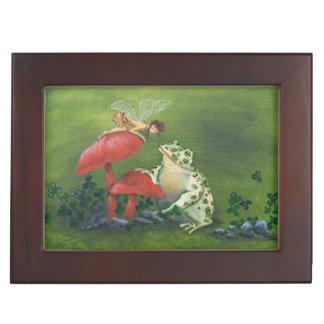 """Caja del recuerdo de la """"hada y de la rana"""" caja de recuerdos"""
