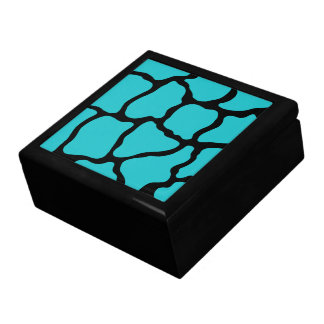 Caja del recuerdo de la turquesa joyero cuadrado grande