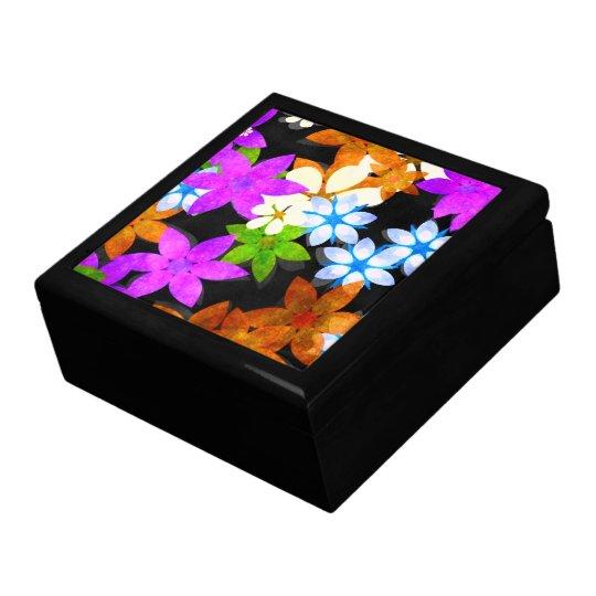 Caja del recuerdo de las FLORES Joyero Cuadrado Grande