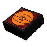 Caja del recuerdo del baloncesto cajas de regalo