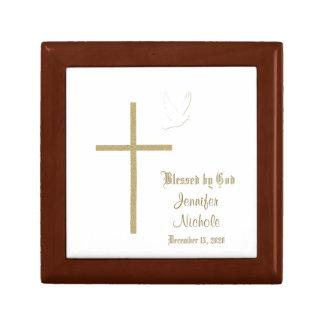 Caja del recuerdo del bautizo o del bautismo caja de recuerdo