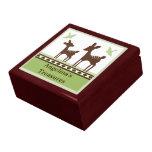 Caja del recuerdo del bebé de los ciervos del sauc caja de regalo
