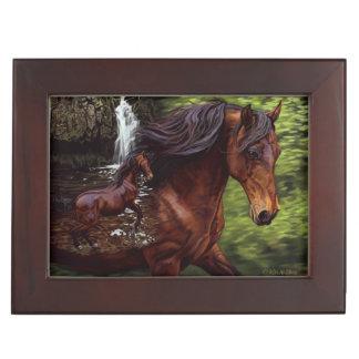 Caja del recuerdo del caballo que ofrece calma en caja de recuerdos