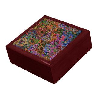 Caja del recuerdo del CAOS del COLOR Caja De Joyas