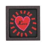 Caja del recuerdo del corazón del amor del día de  cajas de recuerdo de calidad