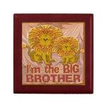 Caja del recuerdo del león de hermano mayor cajas de regalo