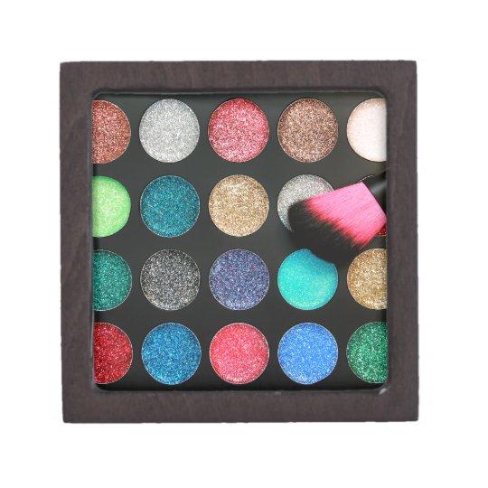Caja del recuerdo del maquillaje del brillo caja de regalo de calidad