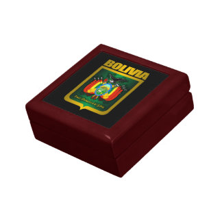 """""""Caja del recuerdo del oro de Bolivia"""" Joyero Cuadrado Pequeño"""