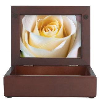 Caja del recuerdo del rosa blanco cajas de recuerdos