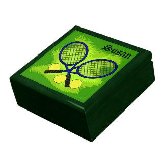Caja del recuerdo del tenis cajas de joyas