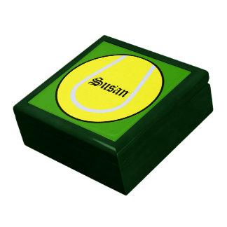 Caja del recuerdo del tenis cajas de regalo