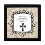 Caja del recuerdo del verso de la biblia del 21:21 cajas de regalo