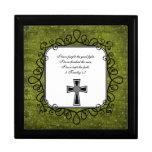 Caja del recuerdo del verso de la biblia del 4:7 d cajas de recuerdo