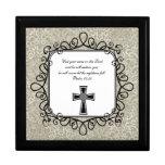 Caja del recuerdo del verso de la biblia del 55:22 caja de recuerdo