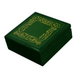 Caja del recuerdo - marco céltico del dragón cajas de regalo