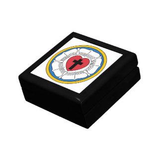 Caja del regalo subió de Luther Joyero Cuadrado Pequeño