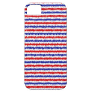 Caja del rojo, blanca y azul de la falta de iPhone 5 funda