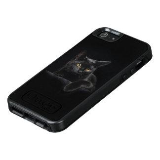 Caja del SE del iPhone de OtterBox del gato negro Funda Otterbox Para iPhone 5/5s/SE
