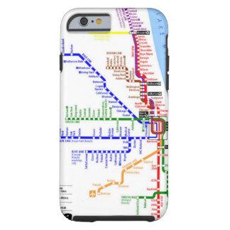 Caja del subterráneo de Chicago Funda Para iPhone 6 Tough