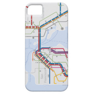 Caja del subterráneo iPhone5 del área de la bahía iPhone 5 Funda