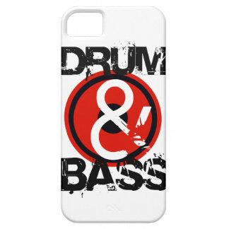 caja del tambor del d&b del dnb y del teléfono del iPhone 5 protector