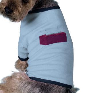 Caja del tejido camisetas de mascota