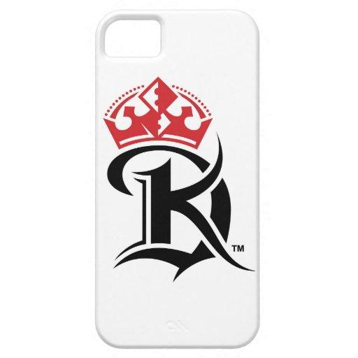 Caja del teléfono 5 con la insignia clásica de rey iPhone 5 fundas
