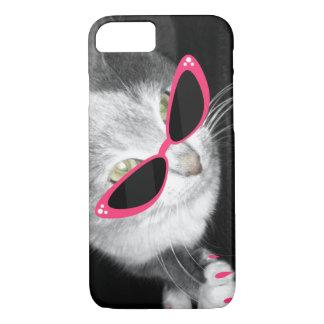 Caja del teléfono 5 de las gafas de sol i del gato funda iPhone 7