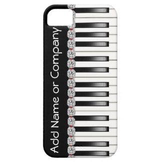 Caja del teléfono 5 del PIANO I de BLING con Funda Para iPhone SE/5/5s