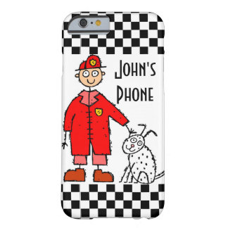 Caja del teléfono 6 del diseño I del bombero de Funda De iPhone 6 Barely There