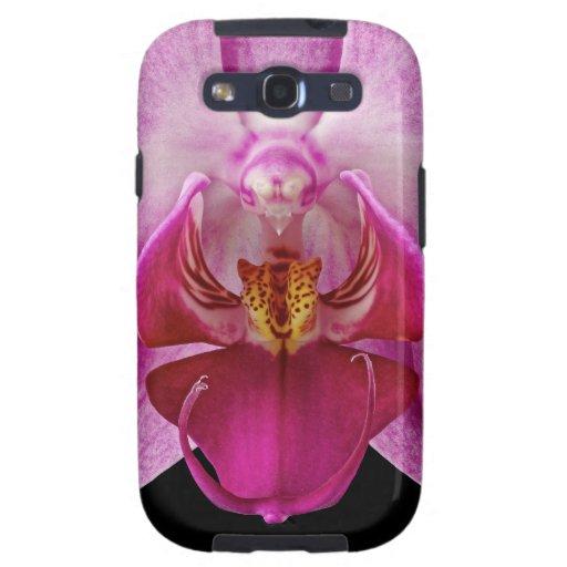 Caja del teléfono celular de la orquídea, galaxia  galaxy s3 fundas
