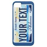 Caja del teléfono celular de la placa de Alabama Funda Para iPhone SE/5/5s