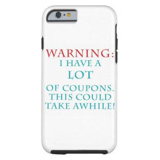Caja del teléfono celular de la reina de la cupón funda para iPhone 6 tough