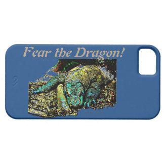 Caja del teléfono celular del dragón de Komodo iPhone 5 Fundas