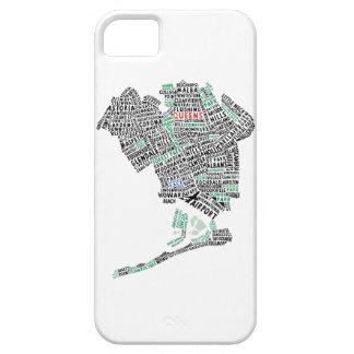 Caja del teléfono celular del mapa de la tipografí iPhone 5 Case-Mate cárcasa