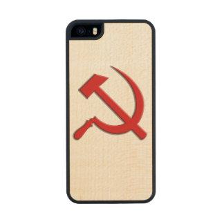 Caja del teléfono celular del martillo y de célula funda de arce carved® para iPhone 5