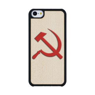Caja del teléfono celular del martillo y de célula funda de iPhone 5C slim arce