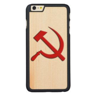 Caja del teléfono celular del martillo y de célula funda de arce carved® para iPhone 6 plus slim