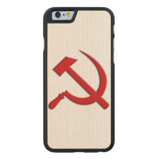 Caja del teléfono celular del martillo y de célula funda de iPhone 6 carved® de arce