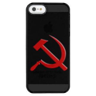 Caja del teléfono celular del martillo y de célula funda clearly™ deflector para iPhone 5 de uncommon