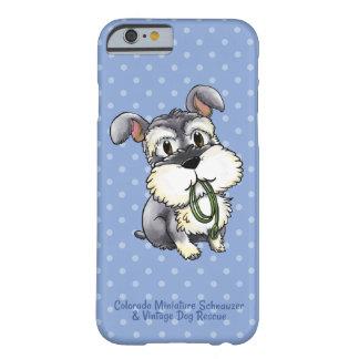 Caja del teléfono celular del Schnauzer de Fozi - Funda Para iPhone 6 Barely There