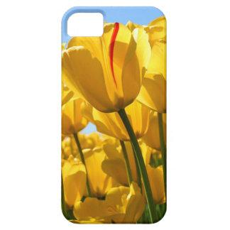 Caja del teléfono celular del tulipán funda para iPhone 5 barely there