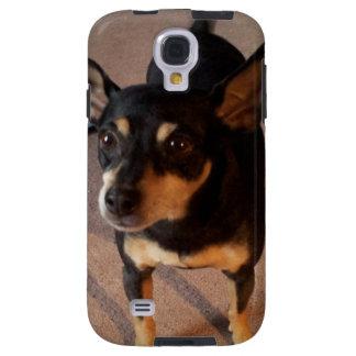 Caja del teléfono con la foto linda del perro de funda para galaxy s4