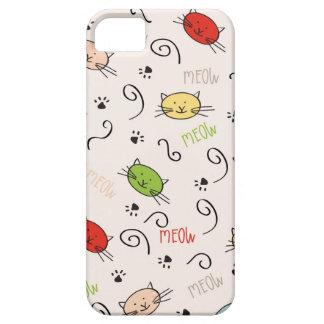 caja del teléfono con los gatos funda para iPhone SE/5/5s