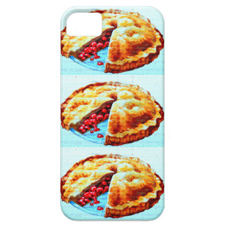 caja del teléfono de 3 empanadas de la cereza iPhone 5 carcasas