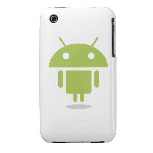 Caja del teléfono de Androidify de la galaxia de S iPhone 3 Protector