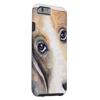 Caja del teléfono de Basset Hound Funda Para iPhone 6 Tough