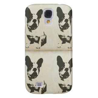 Caja del teléfono de Boston Terrier del vintage Funda Para Galaxy S4