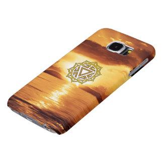 Caja del teléfono de Chakra del plexo solar de la Funda Samsung Galaxy S6