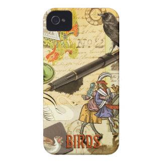 Caja del teléfono de Collaged I de los pájaros iPhone 4 Case-Mate Cárcasas